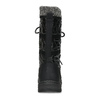 Černé dámské sněhule s úpletem bata, černá, 599-6634 - 15