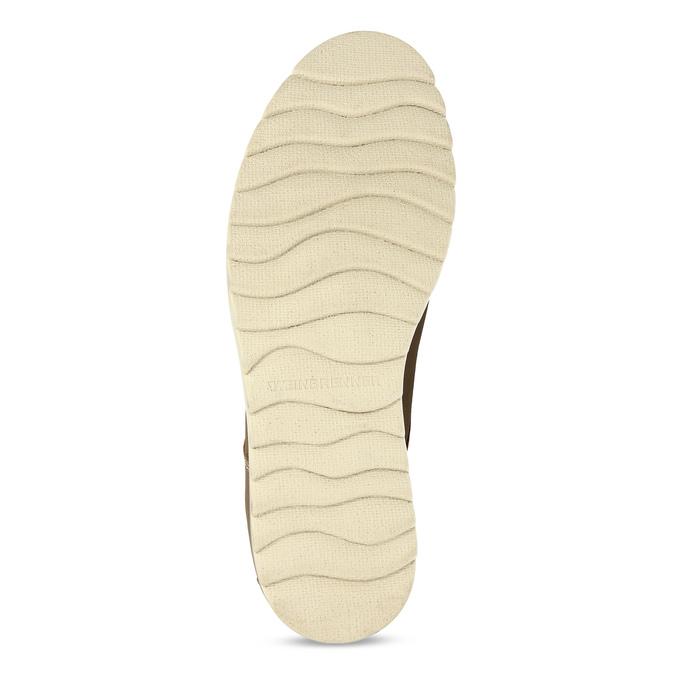 Pánské hnědé kožené ležérní polobotky weinbrenner, hnědá, 846-4610 - 18