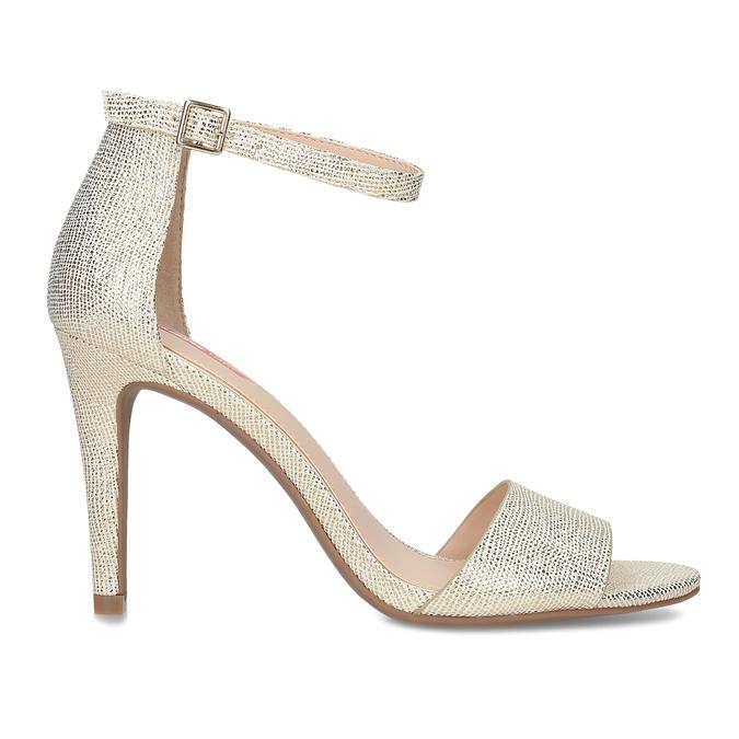 Zlaté sandály na jehlovém podpatku bata-red-label, zlatá, 721-8621 - 19
