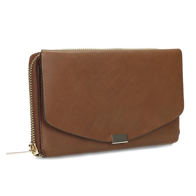 Dámská hnědá kožená peněženka bata, hnědá, 944-3616 - 13