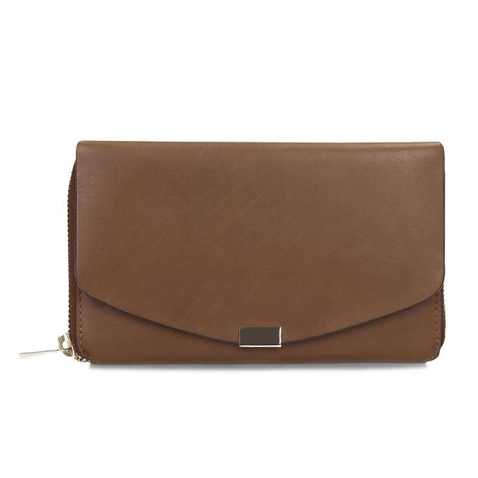 Dámská hnědá kožená peněženka bata, hnědá, 944-3616 - 26