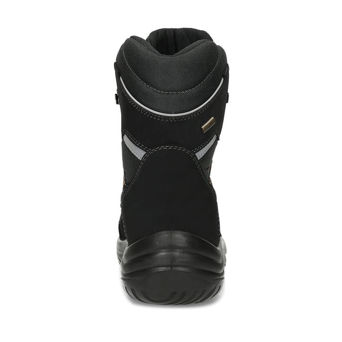 Černé pánské kožené sněhule weinbrenner, černá, 899-6602 - 15