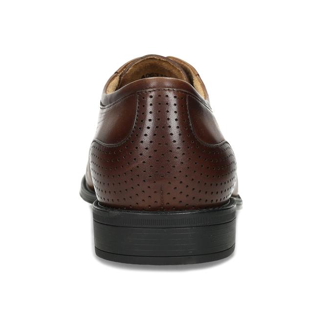 Pánské hnědé kožené Derby polobotky bata, hnědá, 826-3655 - 15
