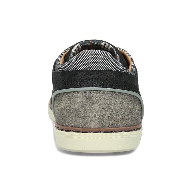 Černé pánské kožené ležérní tenisky bata, černá, 846-6606 - 15