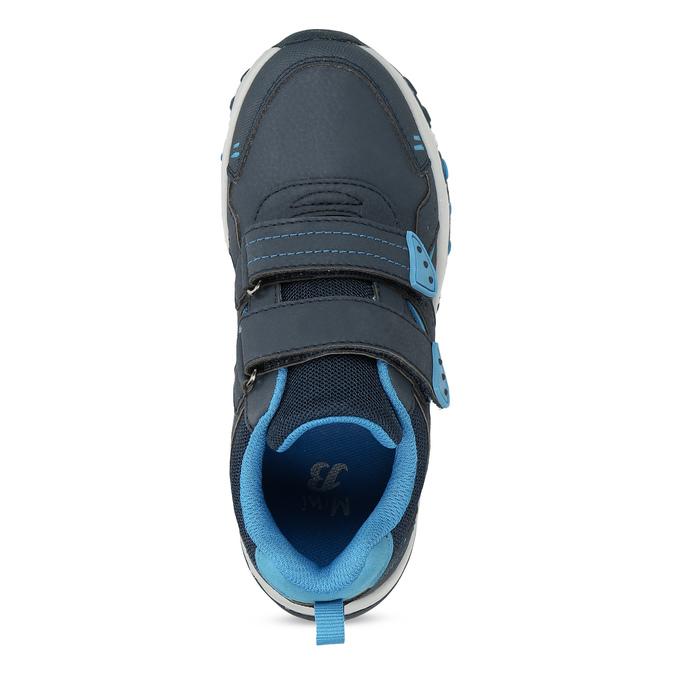 Modré dětské tenisky na suché zipy mini-b, modrá, 411-9617 - 17