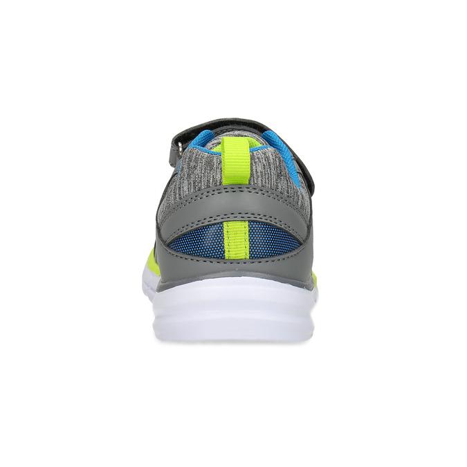 Dětské šedé tenisky s neonovým detailem mini-b, šedá, 419-2622 - 15