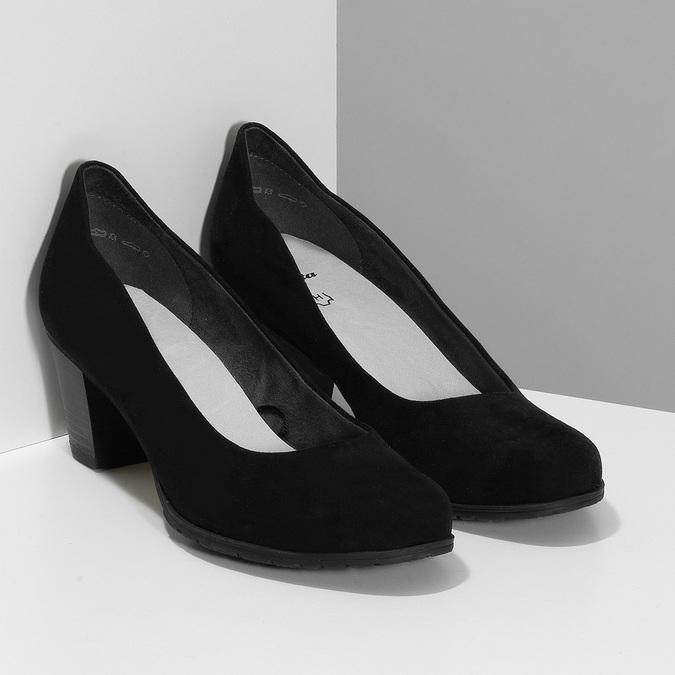 Dámské černé lodičky na stabilním podpatku bata, černá, 629-6603 - 26