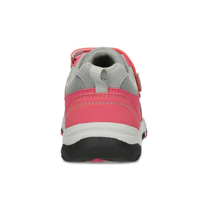 Dětské růžové tenisky na suché zipy mini-b, růžová, 421-5617 - 15