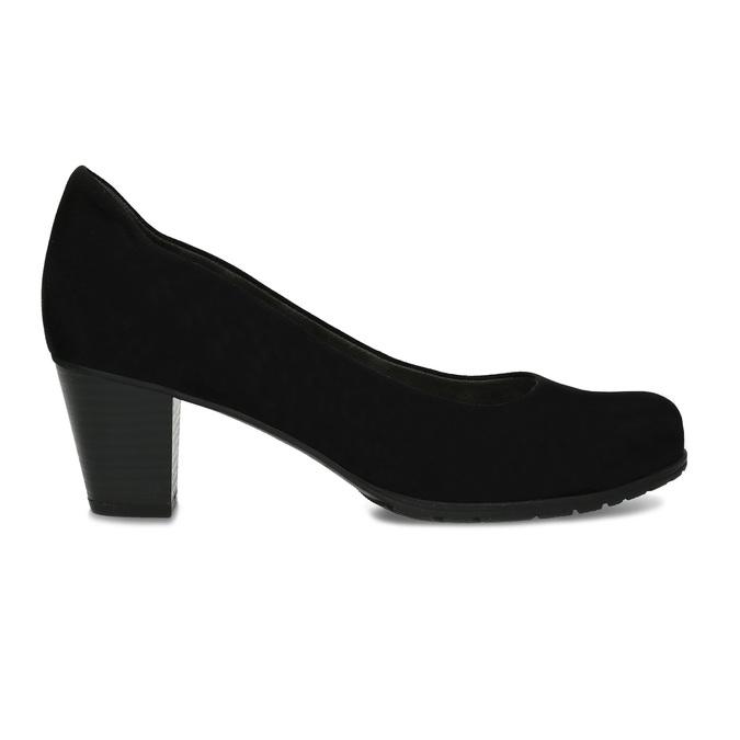 Dámské černé lodičky na stabilním podpatku bata, černá, 629-6603 - 19