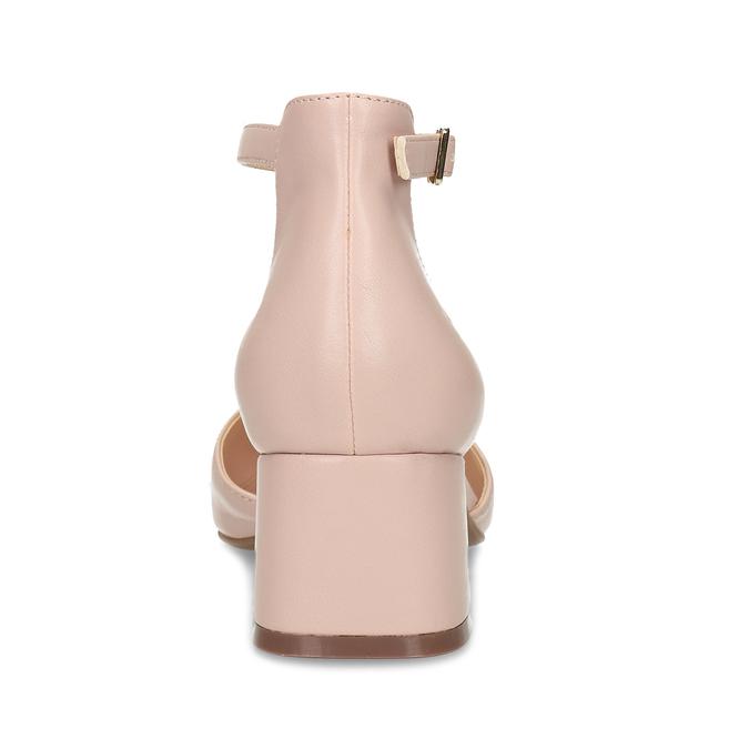 Růžové lodičky na stabilním podpatku bata-red-label, růžová, 621-5603 - 15