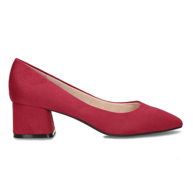 Červené lodičky na stabilním podpatku bata-red-label, červená, 621-5610 - 19