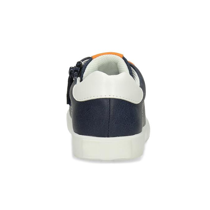 Modré dětské tenisky s oranžovými detaily mini-b, modrá, 211-9637 - 15