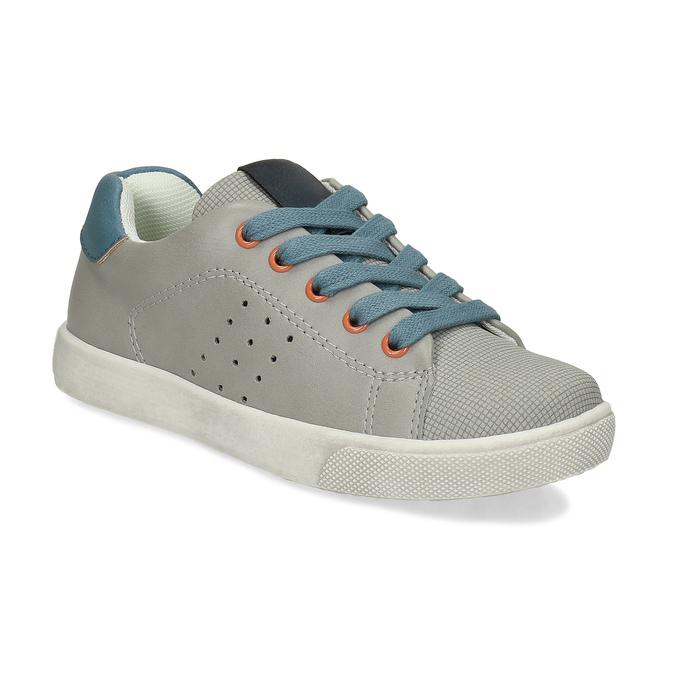 Dětské šedé tenisky s modrými detaily mini-b, šedá, 211-2637 - 13