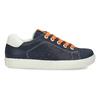Modré dětské tenisky s oranžovými detaily mini-b, modrá, 211-9637 - 19