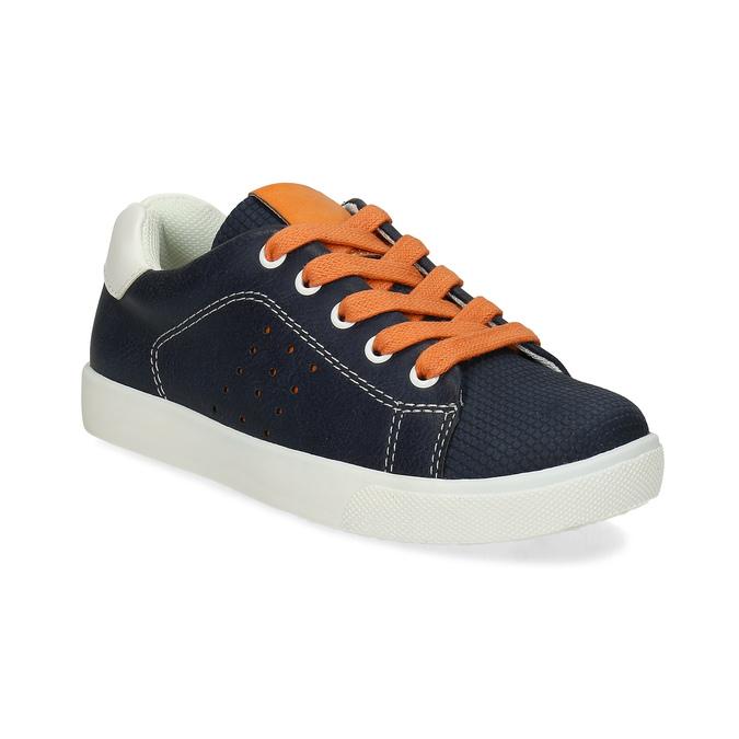 Modré dětské tenisky s oranžovými detaily mini-b, modrá, 211-9637 - 13