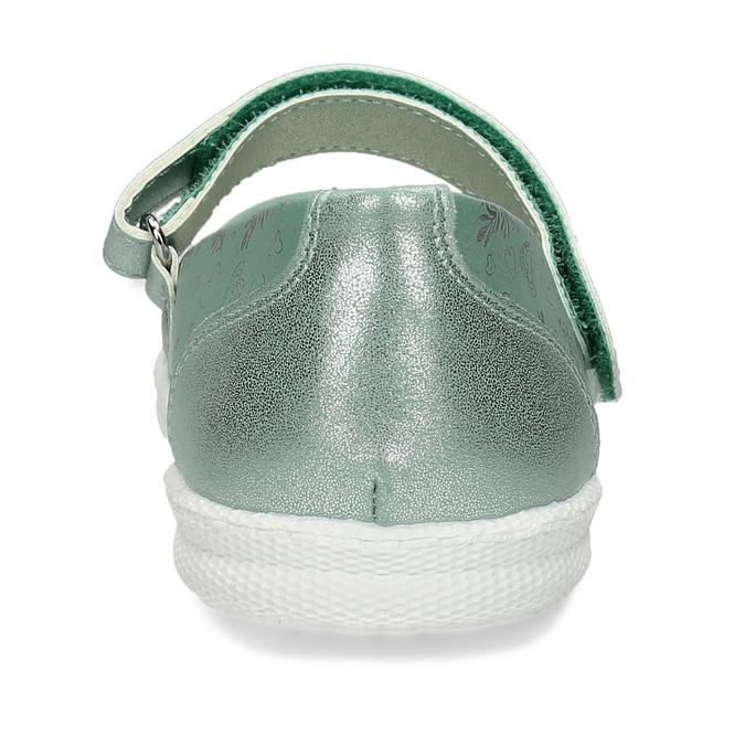 Dětské baleríny se stříbrným potiskem mini-b, tyrkysová, 321-7630 - 15