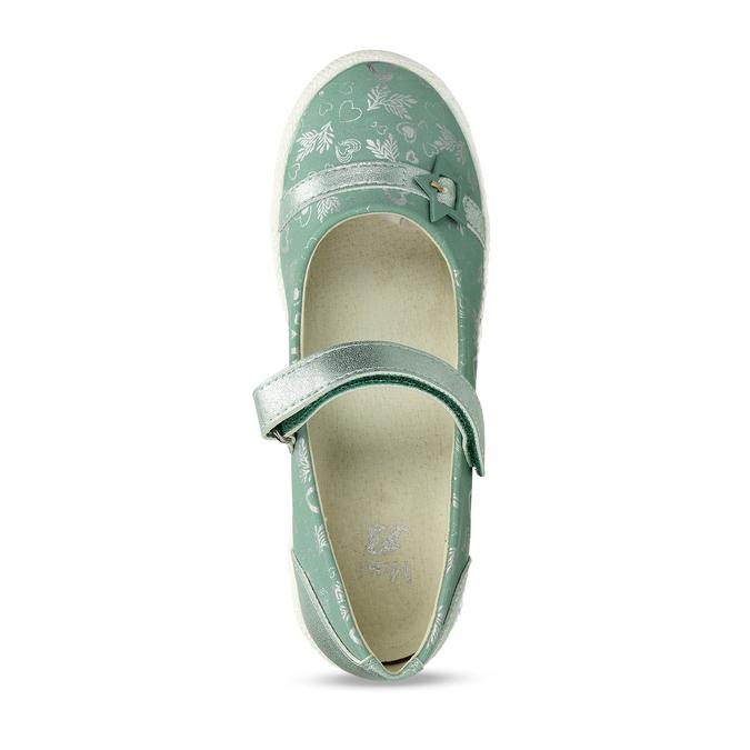 Dětské baleríny se stříbrným potiskem mini-b, tyrkysová, 321-7630 - 17