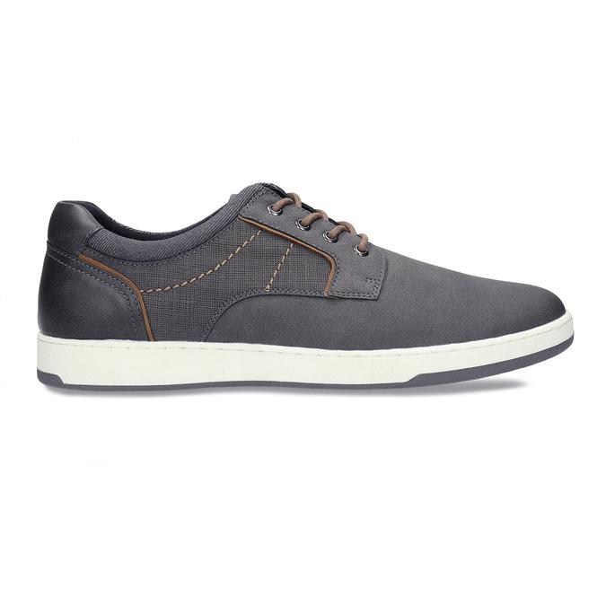 Pánské šedé tenisky městského stylu bata-red-label, šedá, 841-2627 - 19