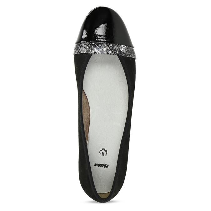 Černé baleríny dress s lesklou špičkou bata, černá, 521-6619 - 17