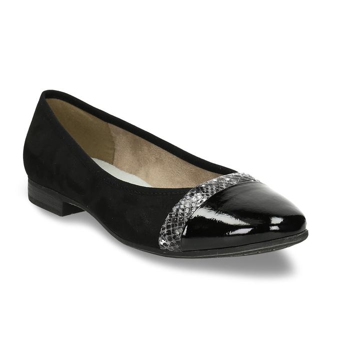 Černé baleríny dress s lesklou špičkou bata, černá, 521-6619 - 13
