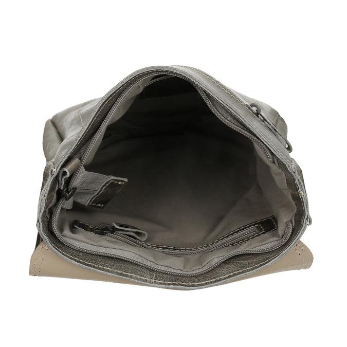 Pánská kožená šedá taška přes rameno bata, šedá, 964-2283 - 15