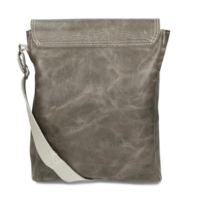 Pánská kožená šedá taška přes rameno bata, šedá, 964-2283 - 16