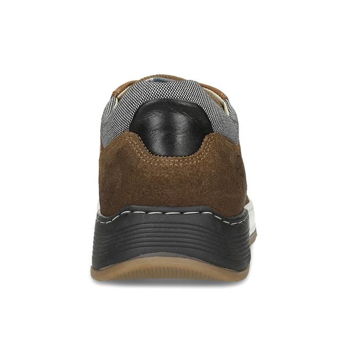 Pánské hnědé ležérní tenisky kožené bata, hnědá, 846-3602 - 15