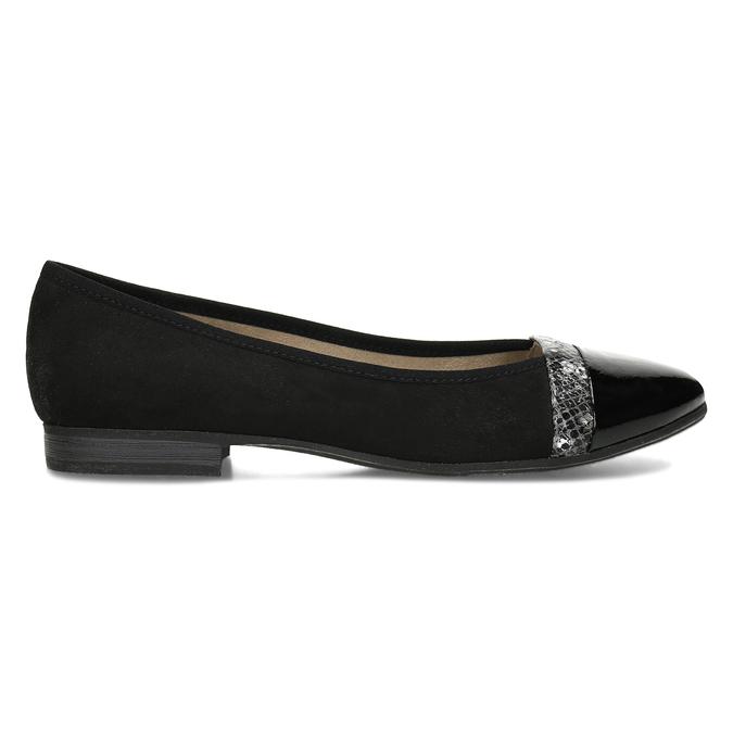 Černé baleríny dress s lesklou špičkou bata, černá, 521-6619 - 19