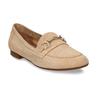 Béžové dámské mokasíny z broušené kůže bata, béžová, 513-3601 - 13