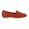 Dámské červené mokasíny z broušené kůže bata, červená, 513-5601 - 19