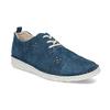 Dámské modré polobotky z broušené kůže bata, modrá, 523-9606 - 13