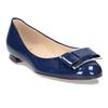 Dámské kožené modré baleríny se sponou hogl, modrá, 528-9101 - 13