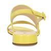 Dámské kožené žluté páskové sandály hogl, žlutá, 563-8102 - 15