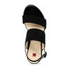 Dámské kožené černé páskové sandály hogl, černá, 563-6102 - 17