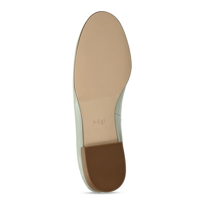 Dámská kožená světle zelená loafers obuv hogl, zelená, 514-6108 - 18