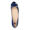 Dámské kožené modré baleríny se sponou hogl, modrá, 528-9101 - 17