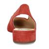 Kožené červené lodičky na nízkém podpatku s páskem hogl, červená, 563-5102 - 15
