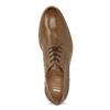Pánské hnědé kožené Derby polobotky bata, hnědá, 826-3616 - 17