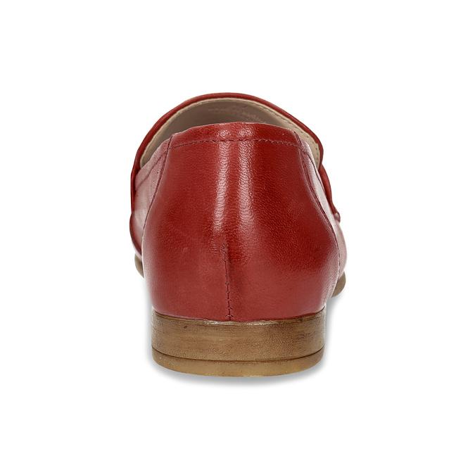 Dámské kožené červené mokasíny bata, červená, 516-5606 - 15