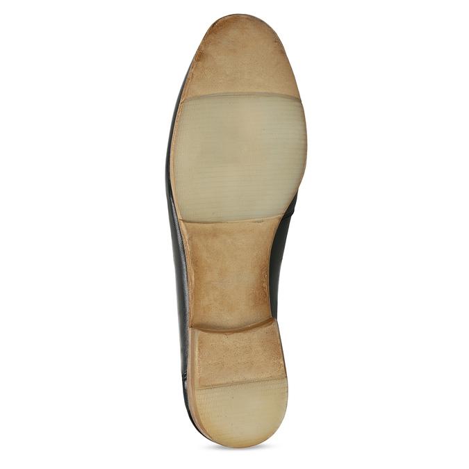 Dámské kožené černé mokasíny bata, černá, 516-6606 - 18