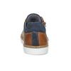 Chlapecké hnědé kožené tenisky na zip mini-b, hnědá, 416-3601 - 15