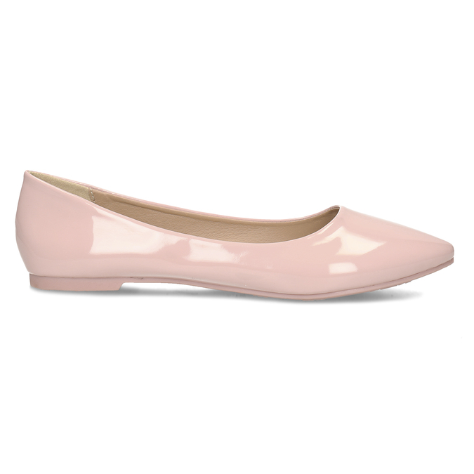 Dámské baleríny růžové bata, růžová, 521-5622 - 19