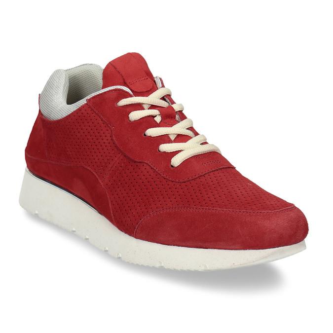 Dámské kožené červené tenisky městského typu bata, červená, 523-5609 - 13