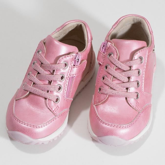 Růžové dětské tenisky se zipem bubblegummers, růžová, 121-5627 - 16