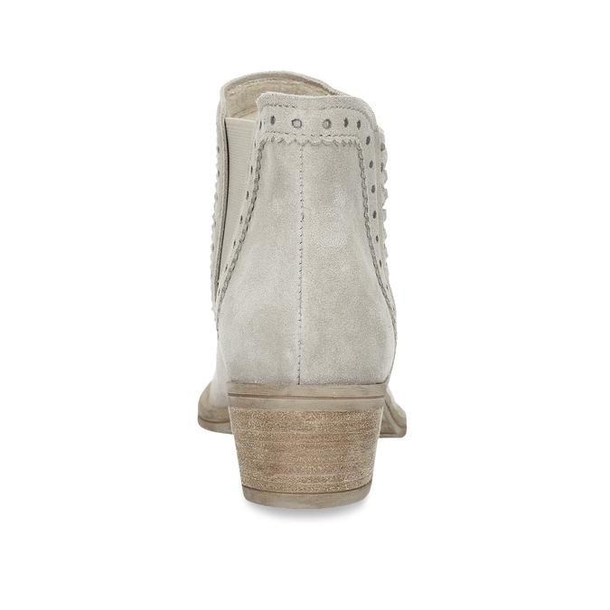 Kotníčkové šedé kozačky z broušené kůže bata, šedá, 593-8605 - 15