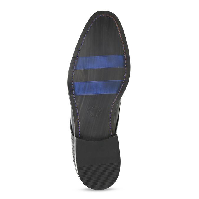 Černé pánské kožené Derby polobotky bata, černá, 824-6620 - 18