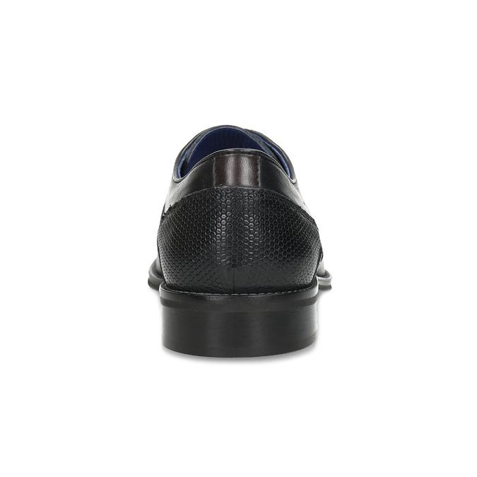 Černé pánské kožené Derby polobotky bata, černá, 824-6620 - 15