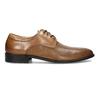 Elegantní kožené polobotky s perforací bata, hnědá, 826-3698 - 19