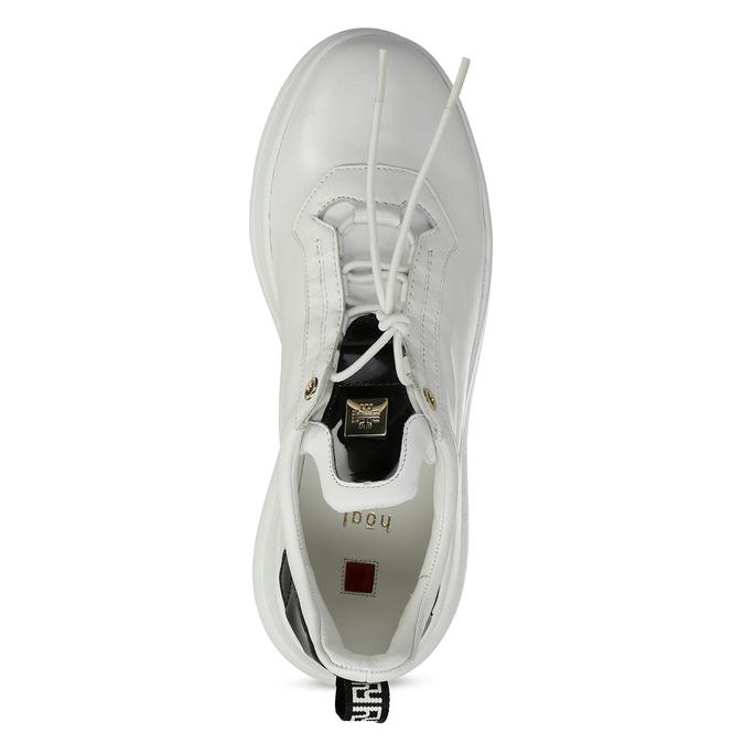 Bílé dámské kožené tenisky hogl, bílá, 544-1104 - 17