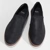 Modrá pánská kožená Slip-on obuv bata, modrá, 833-9608 - 16